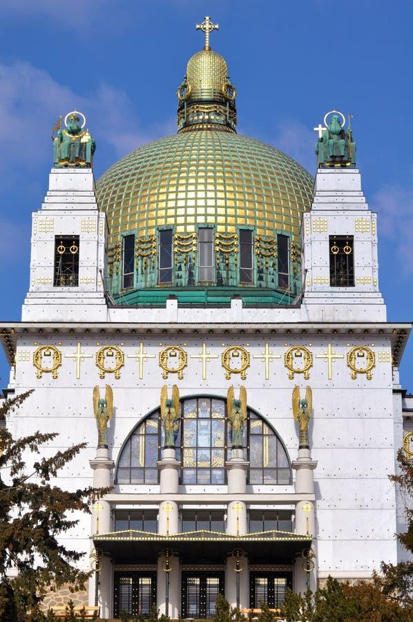 Église d'Otto Wagner, Vienne images libres de droits