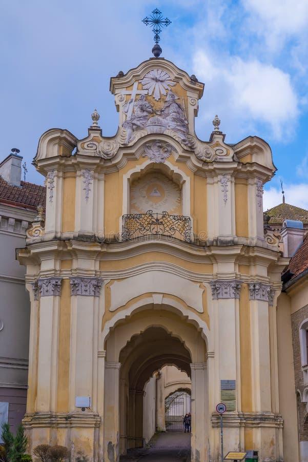 Église d'Uniate de trinité sainte à Vilnius photographie stock libre de droits