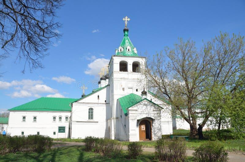 Église d'Uspenskaya dans Aleksandrovskaya Sloboda, région de Vladimir, anneau d'or de la Russie images libres de droits