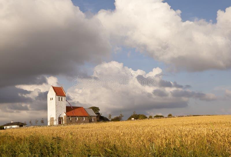 Église danoise traditionnelle images stock
