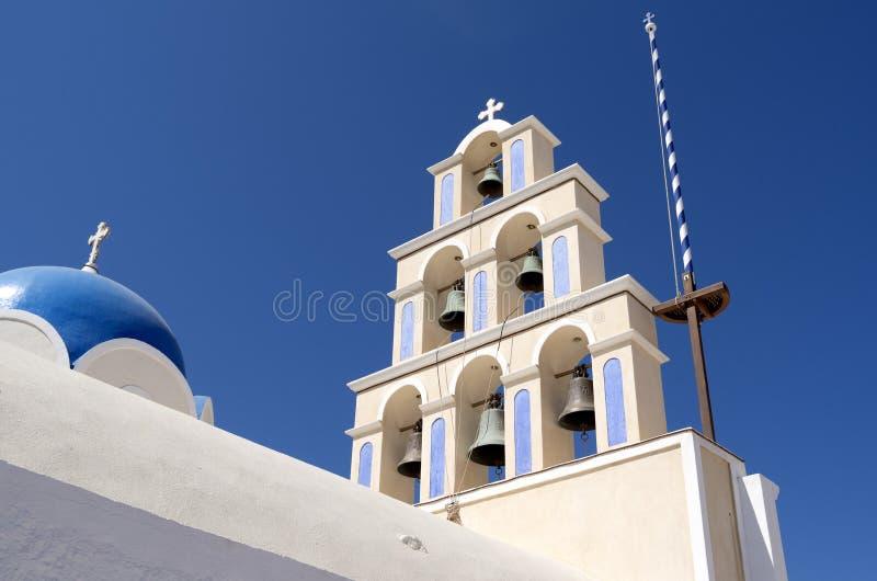 Église dans Akroteri. images libres de droits