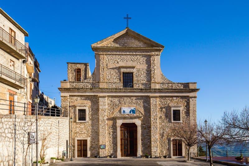Église dans Cammarata, Sicile, Italie photographie stock libre de droits