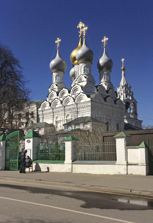 Église dans la rue de Malaya Ordynka Moscou, Russie images stock