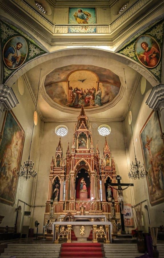 Église dans la ville d'Iloilo images libres de droits
