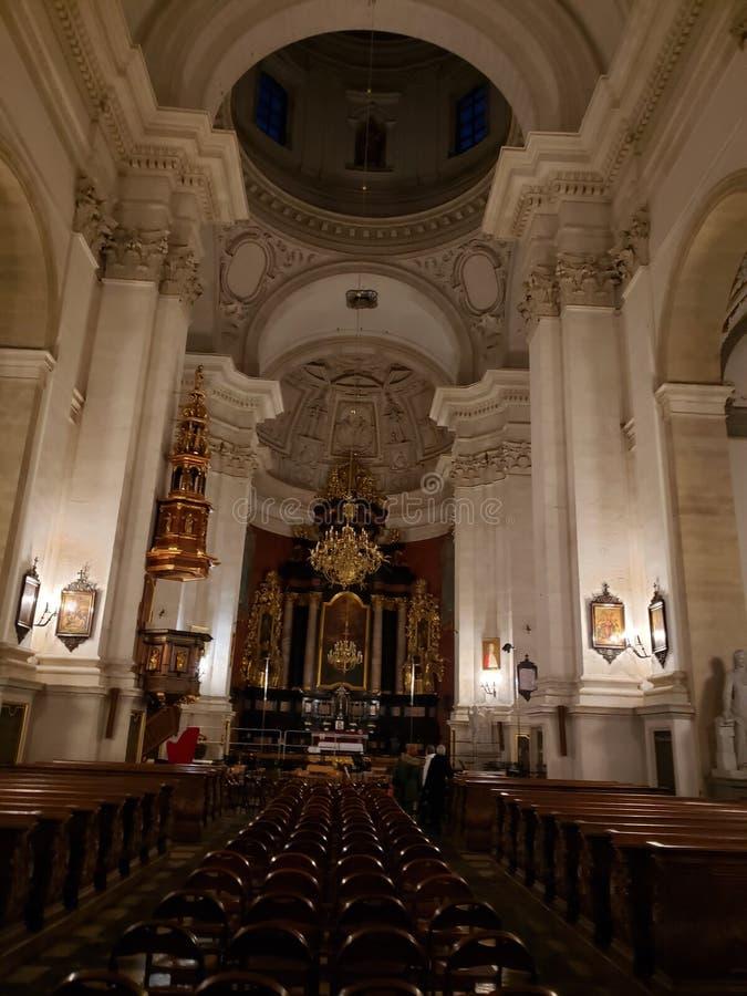 Église dans la ville de Cracovie en Pologne photos libres de droits