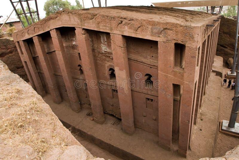 Église dans Lalibela image stock