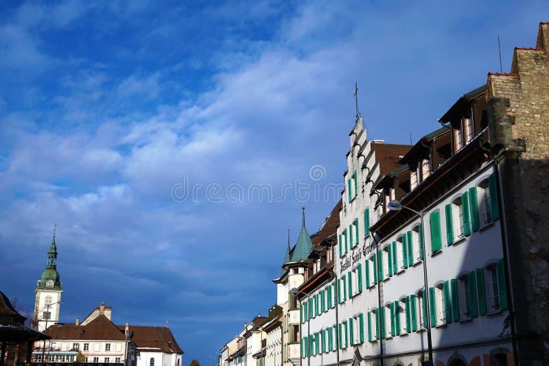Église dans le bulle en gruyère en Suisse du sud images libres de droits