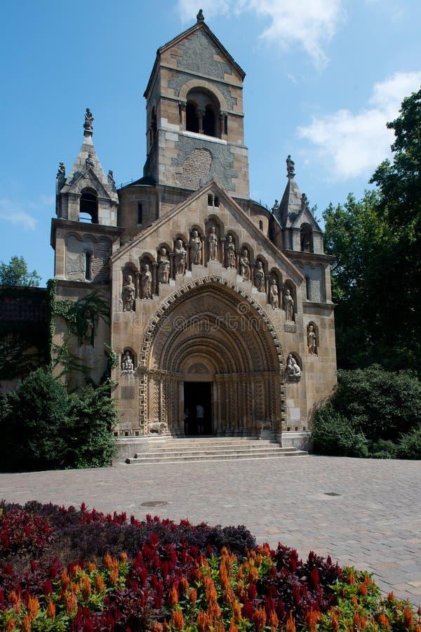 Église dans le château de Vajdahunjad photo libre de droits