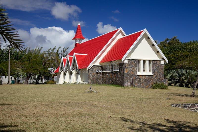 Église dans le chapeau Malheureux, Îles Maurice image libre de droits