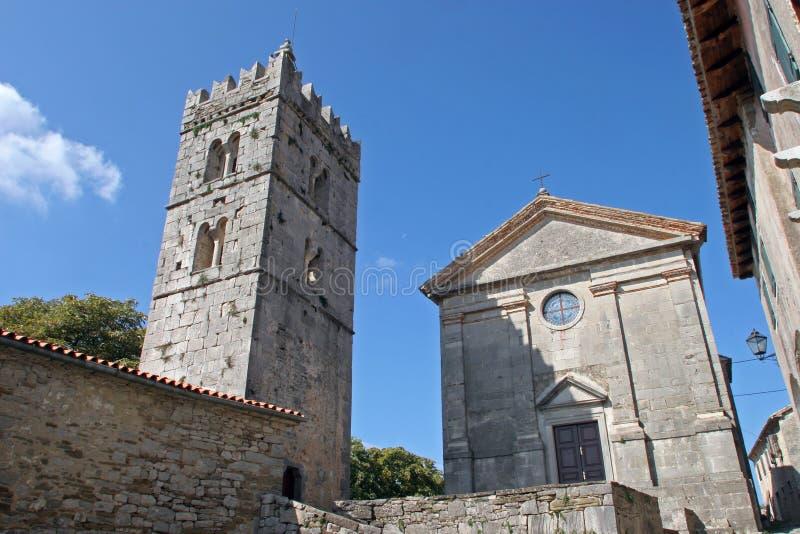 Église dans le fredonnement, Istria, Croatie photo libre de droits