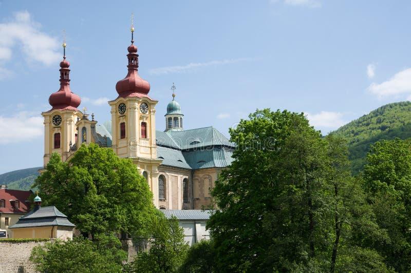Église dans le Hejnice, République Tchèque photos stock