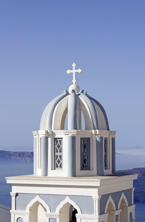 Église dans le santorini image libre de droits