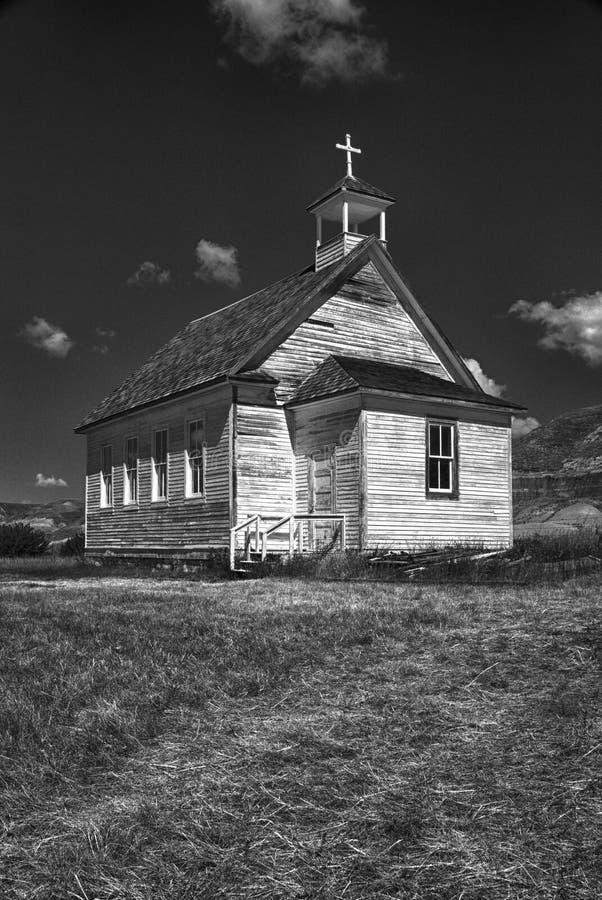 Église dans les bad-lands, Dorothy, Alberta images libres de droits