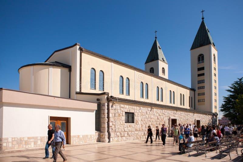 Église dans Medjugorje Herzégovine photographie stock libre de droits