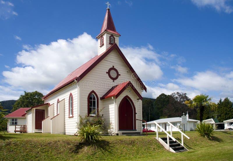 Église dans Murchison, Nouvelle Zélande photographie stock libre de droits