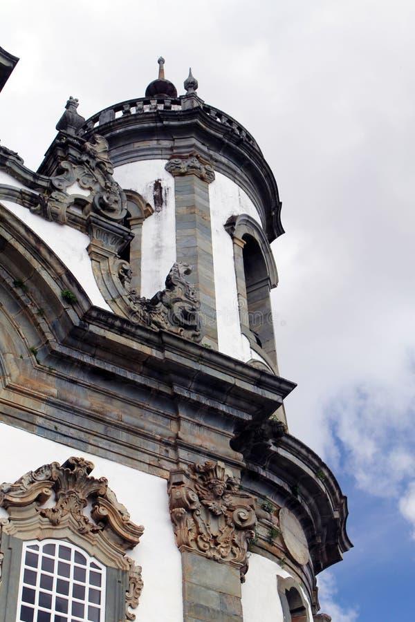Église dans Ouro Preto images libres de droits