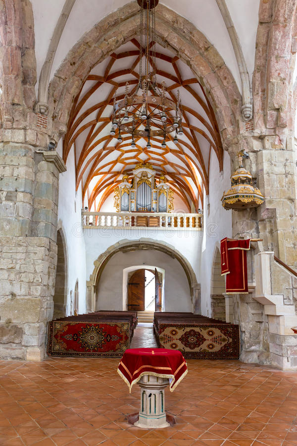 Église dans Prejmer, Roumanie photo stock