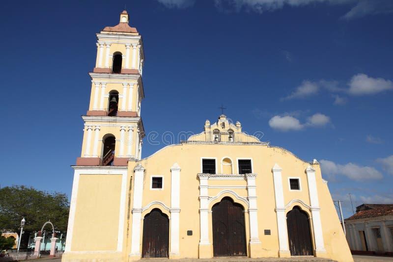Église dans Remedios, Cuba images stock