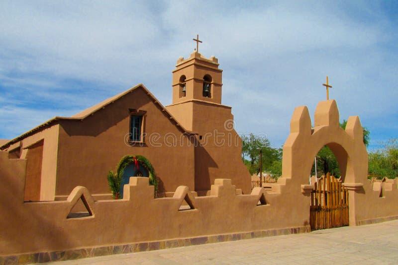 Église dans San Pedro de Atacama photo stock