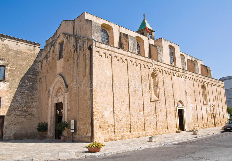 Église de basilique de carmin. Mesagne. La Puglia. L'Italie. images libres de droits
