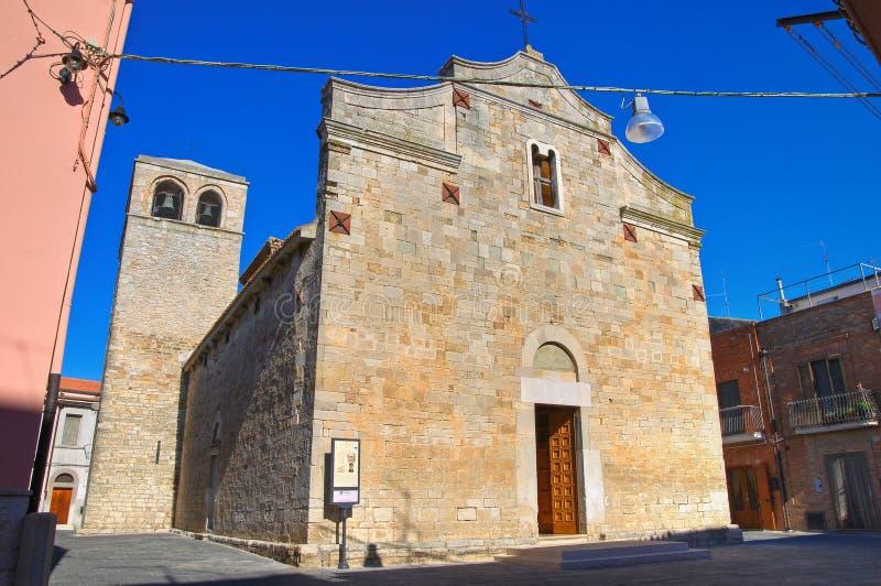 Église de basilique de St Basilio. Troia. La Puglia. L'Italie. photographie stock