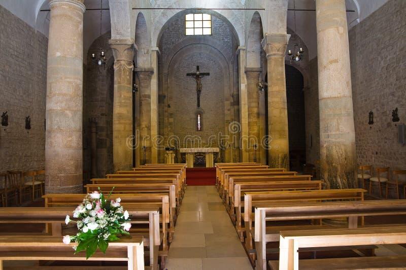 Église de basilique de St Basilio. Troia. La Puglia. L'Italie. images stock