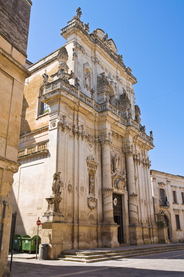 Église de basilique de St Giovanni Battista Lecce La Puglia l'Italie image libre de droits