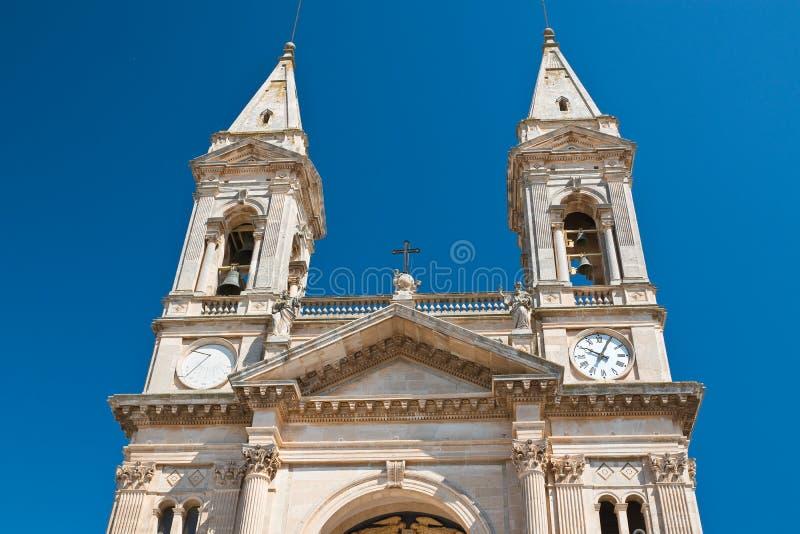 Église de basilique des solides solubles Cosma e Damiano Alberobello La Puglia l'Italie photos libres de droits