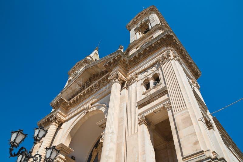 Église de basilique des solides solubles Cosma e Damiano Alberobello La Puglia l'Italie photo libre de droits