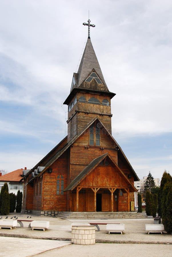 église de brasov en bois image stock