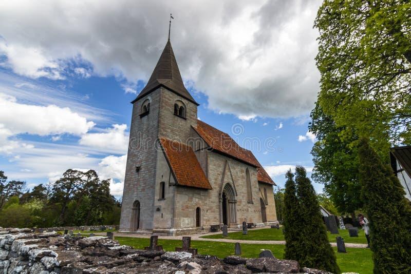 Église de Bro, Suède image libre de droits