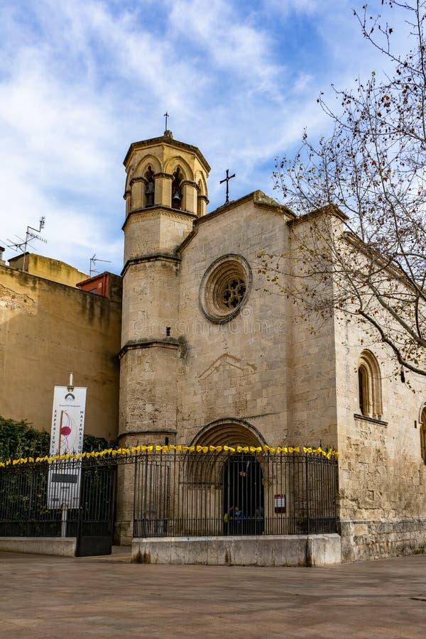 Église de Capella de Sant Joan en Vilafranca del Penedes, Catalogne, Espagne images libres de droits