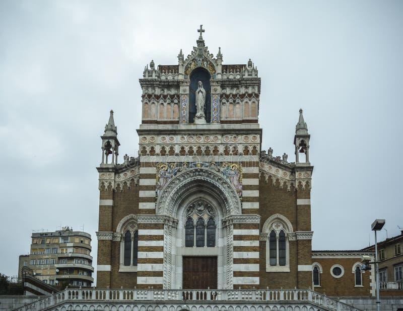 Église de capucin de notre Madame de Lourdes Rijeka Croatia images stock