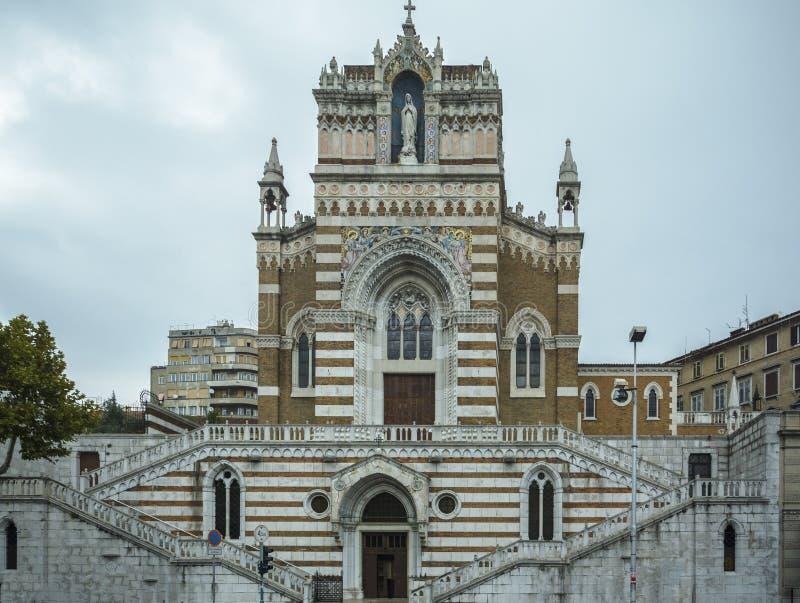 Église de capucin de notre Madame de Lourdes Rijeka Croatia photo libre de droits