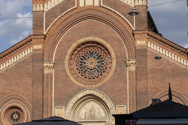 Église de carmin à Milan, Italie photo libre de droits
