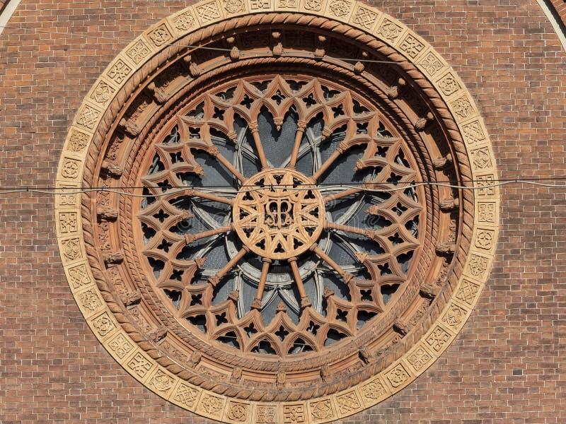 Église de carmin à Milan, Italie images libres de droits