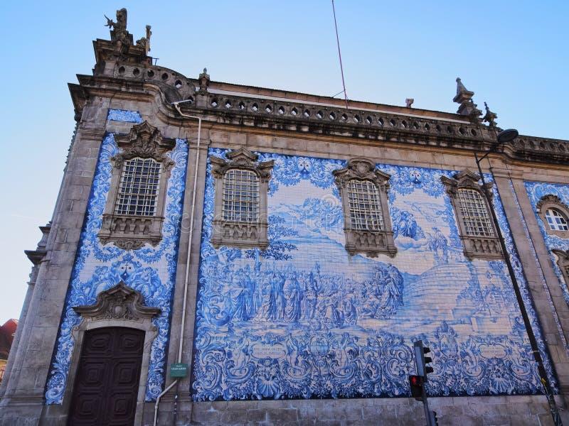 Église de Carmo à Porto photographie stock