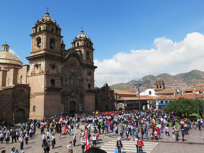 église de cathédrale à la plaza de Armas cuzco Pérou photo stock