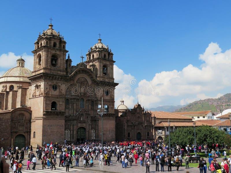 église de cathédrale à la plaza de Armas cuzco Pérou image stock