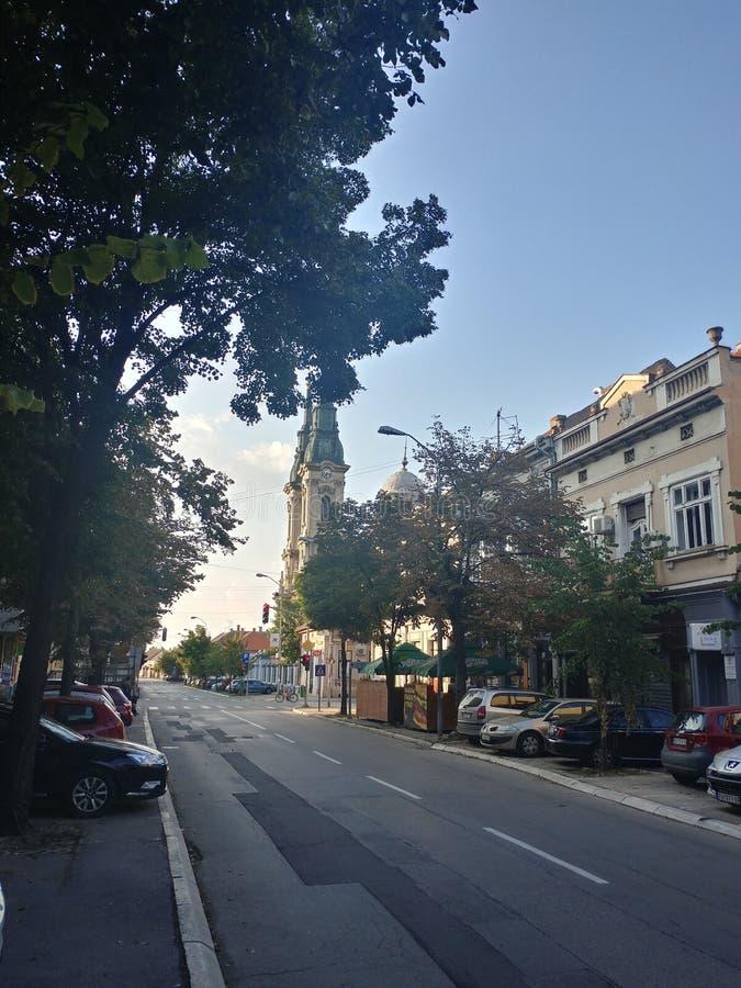 Église de cathédrale dans la ville de Pancevo, Serbie photographie stock libre de droits