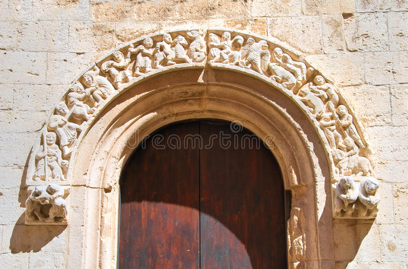 Église de cathédrale de Barletta La Puglia l'Italie photos libres de droits