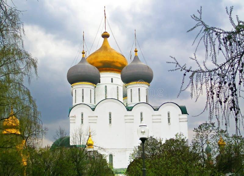 Église de cathédrale de l'icône de Smolensk de la mère, Moscou image stock