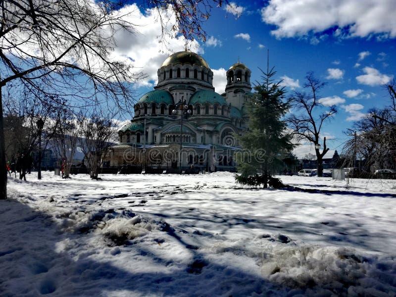 Église de cathédrale/St Aleksandar Nevski photographie stock libre de droits