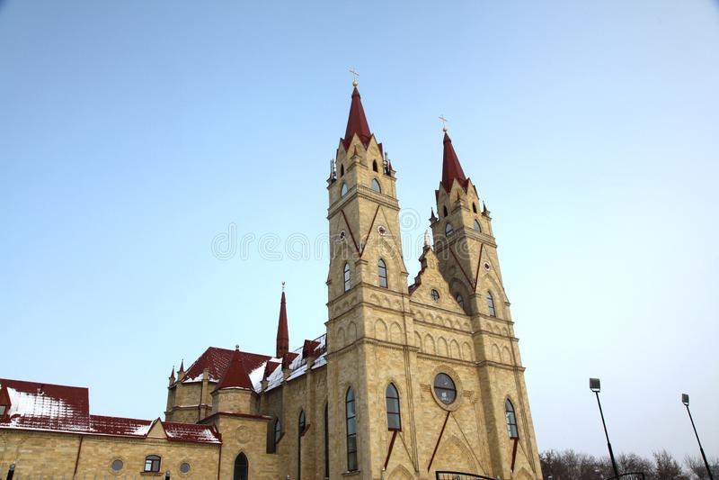 Église de Catolic dans Karaganda, Kazakhstan photographie stock