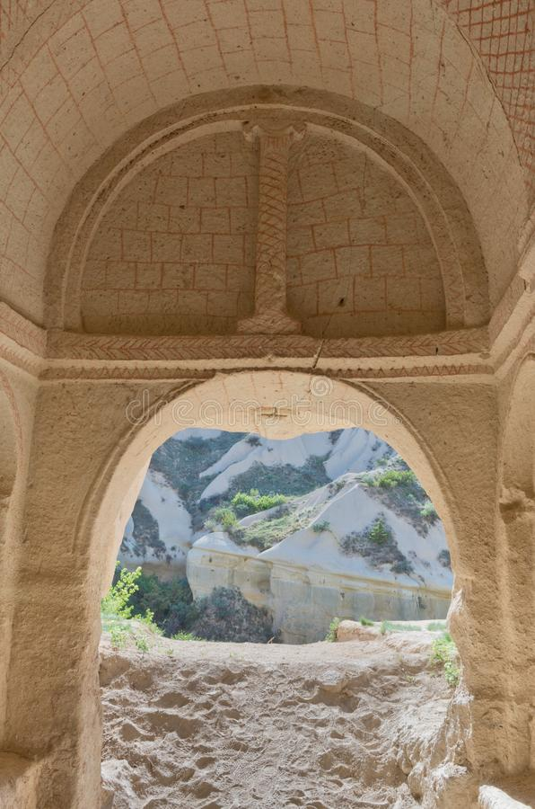 Église de caverne de Meskendir dans Cappadocia, Turquie, images libres de droits
