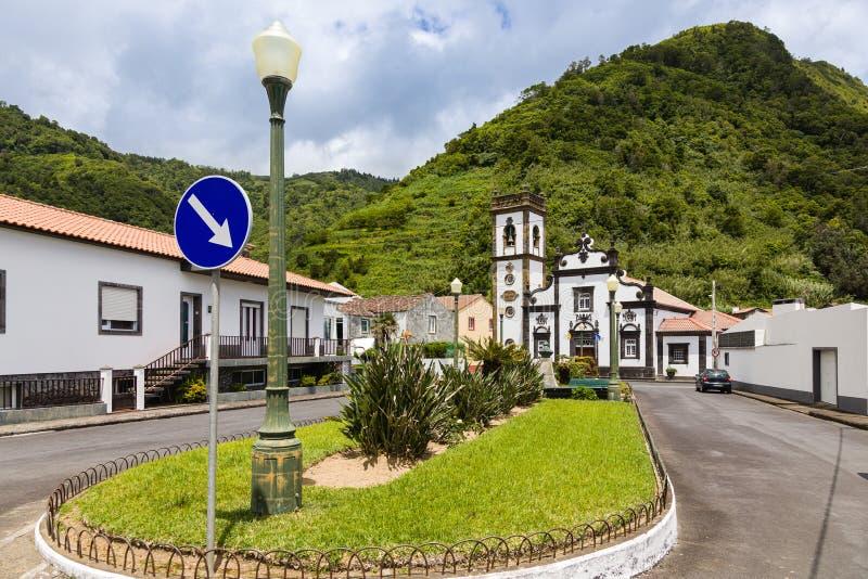 Église de Cheia de Graca dans le Terra de Faial DA, sao Miguel, Açores photographie stock libre de droits