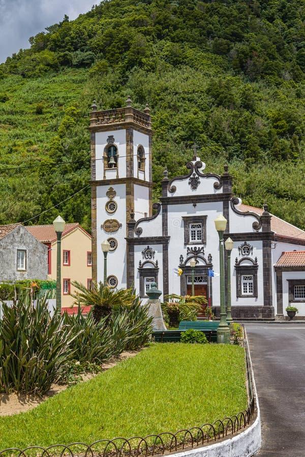 Église de Cheia de Graca dans le Terra de Faial DA, sao Miguel, Açores images stock