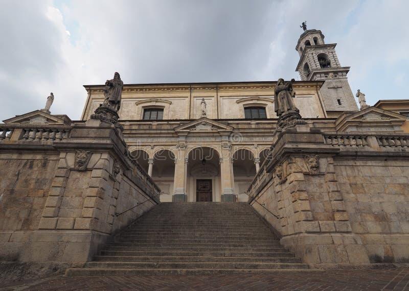 Église de Clusone, Bergame, Lombardie, Italie images libres de droits