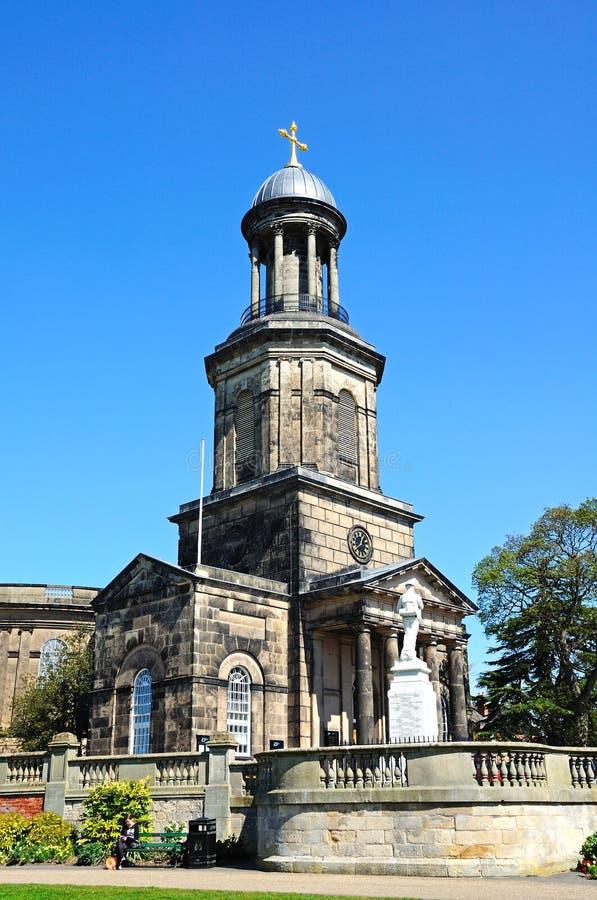Église de confetti de St, Shrewsbury image stock