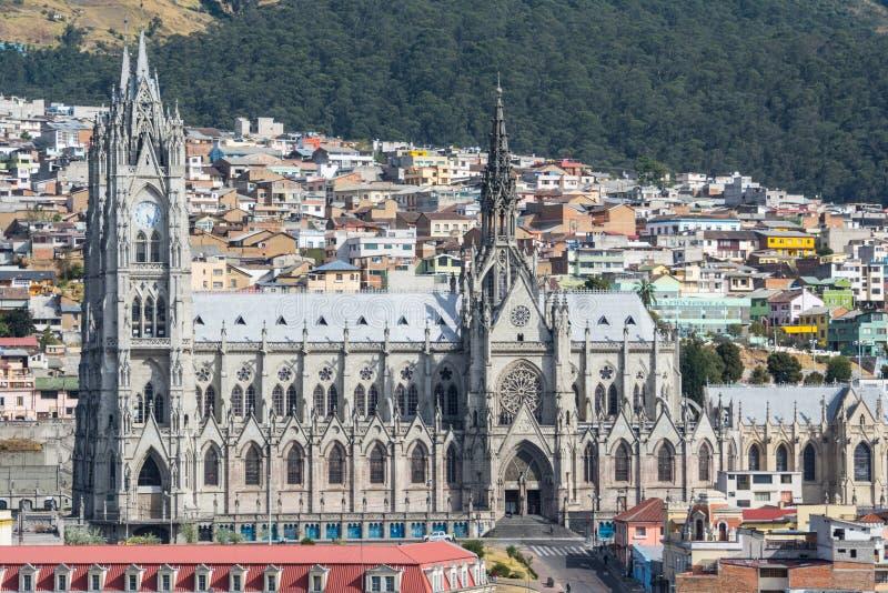 Église de del Voto Nacional, Quito, Equateur de basilique photos stock